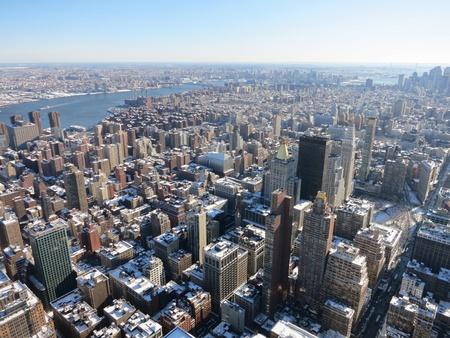 eye: New York city bird eye view