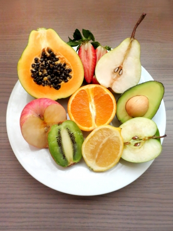 Fruity fruits on a plate  Stock Photo