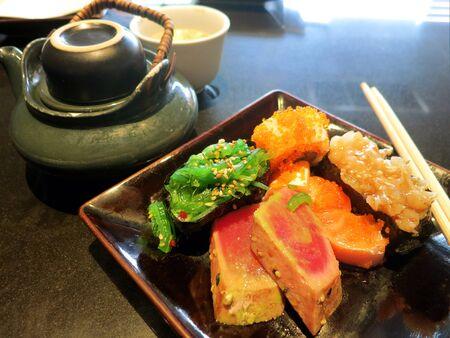 Japanese sushi and sashimi set