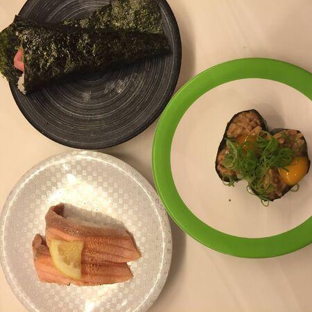 Sushi plates Stock Photo