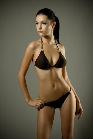 girl boobs: Young sexy bikini model
