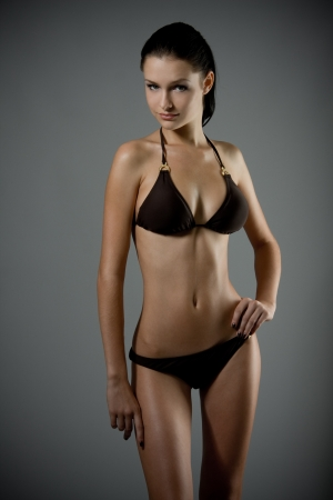 hot breast: Young sexy bikini model