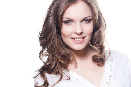 Face of a lovely smiling girl