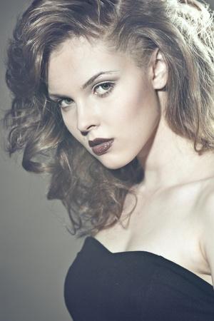 Closeup portrait of a sexy young caucasian woman Stock Photo - 16230176
