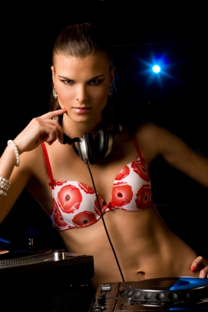 Beautiful DJ girl photo