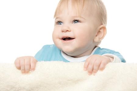 blonde yeux bleus: Mignon petit garçon