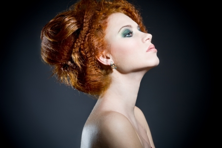 Beautiful redhead woman photo