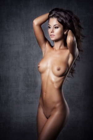 young naked girl: Beautiful nude young woman