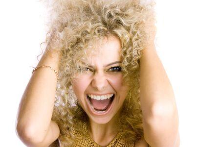 shaggy: Screaming woman Stock Photo