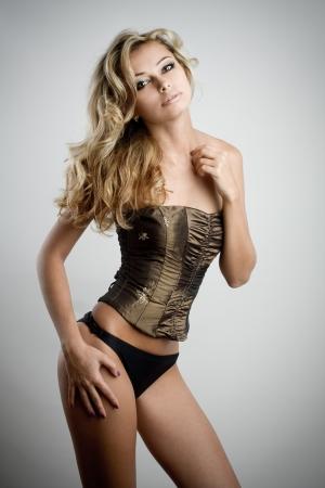 tetas: Sexy modelo rubia joven
