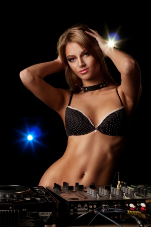 Sexy DJ girl photo