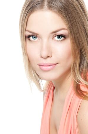 Face of a beautiful woman photo