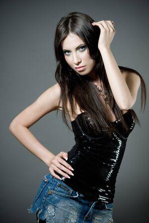 gir: Sexy young brunette gir
