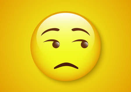 dubious eyes roll emoticon character