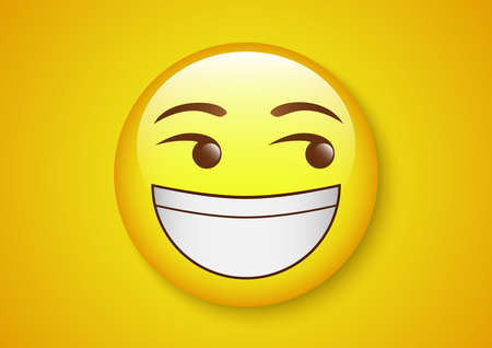 grin laugh eyes roll emoticon character 일러스트