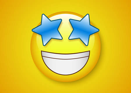 Amazed expression emoticon character