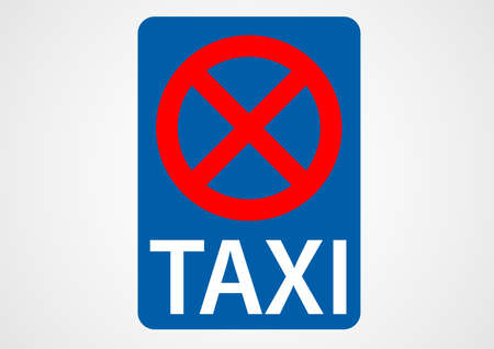 taxi rank prohibited traffic sign Illustration
