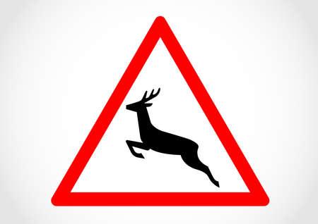 Wild animals cross traffic sign.