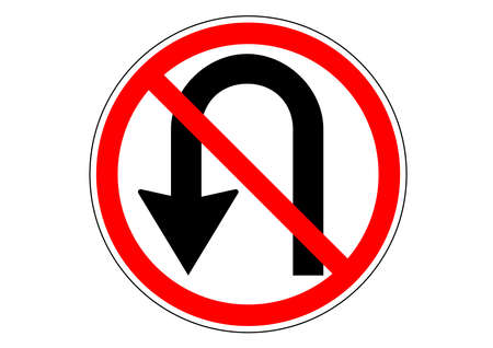 No u-turn traffic sign