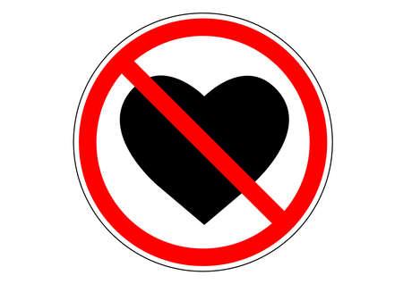 Do not fall in love sign Foto de archivo - 100483229