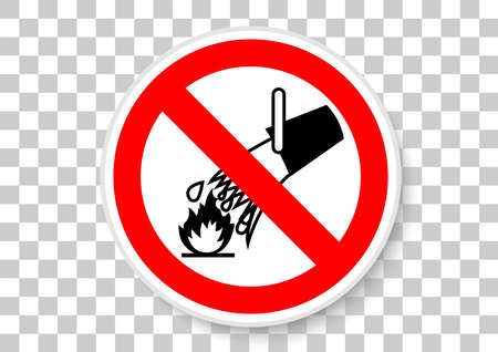 Do not extinguish with water industrial sign illustration. Reklamní fotografie - 100740096