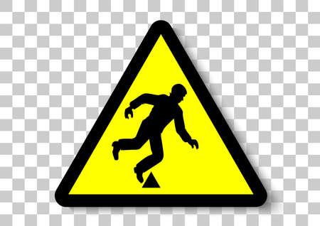 Obstacles interrupted safety sign illustration. Çizim