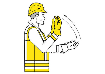 Move forward signalman gesture