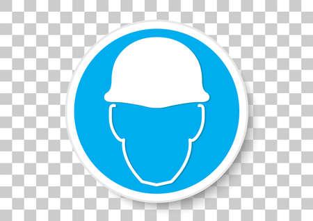 safety helmet must be worn icon
