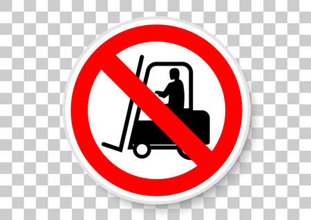 no access for industrial vehicles icon