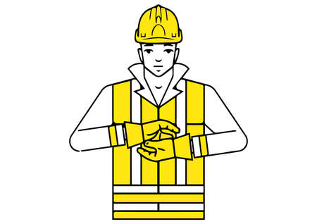 end of operation signalman gesture vector illustration Ilustração
