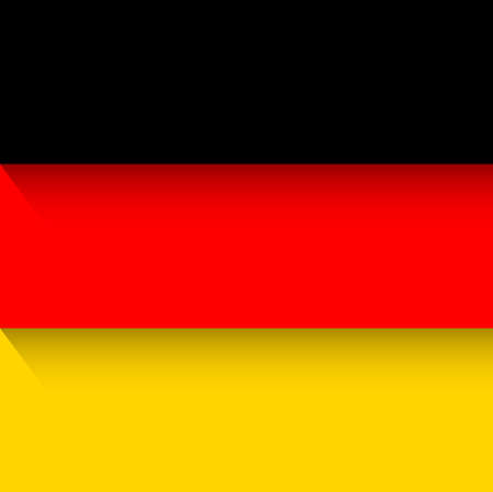 A German flag country emblem on plain presentation