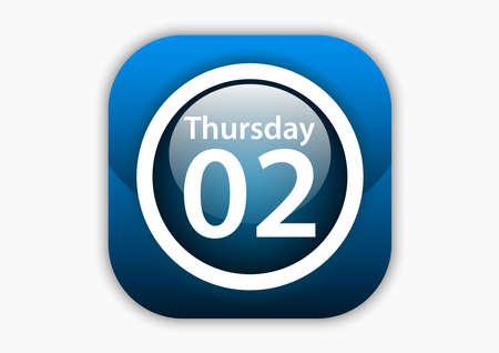 Calendar elegant texture icon design vector illustration