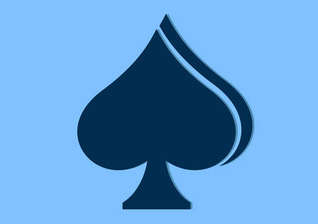 A spades flat icon design isolated on blue background.