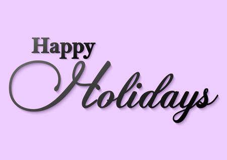 happy holidays black typography
