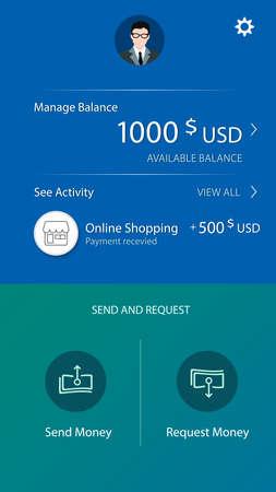 account balance user interface