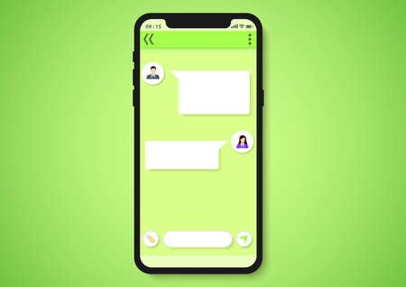 Message template user interface