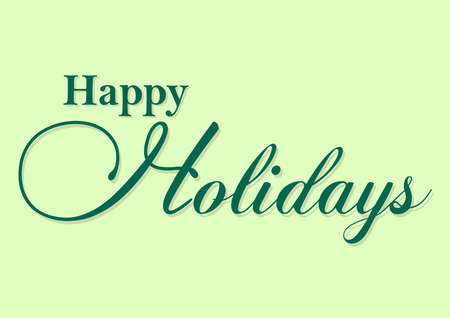 happy holidays typography Ilustrace