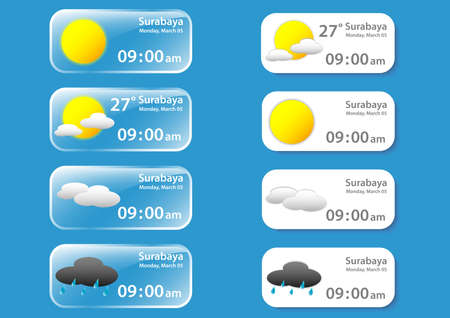 weather banner pack Ilustrace