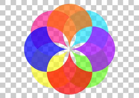 Geometrical circle logo Ilustrace