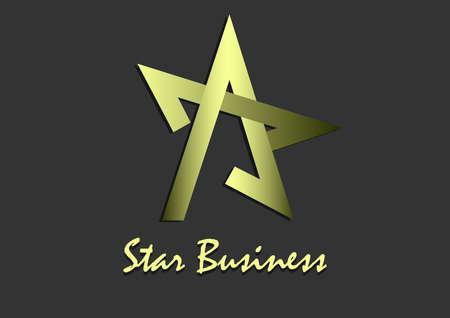 star golden logo design