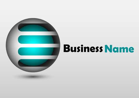 metallic ball logo design Ilustração