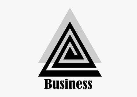 triangle business logo design Illustration