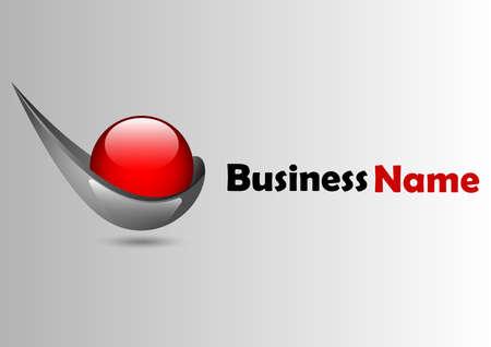 ball circle red glossy logo