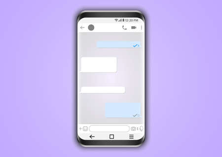 smartphone application messenger user interface Ilustrace