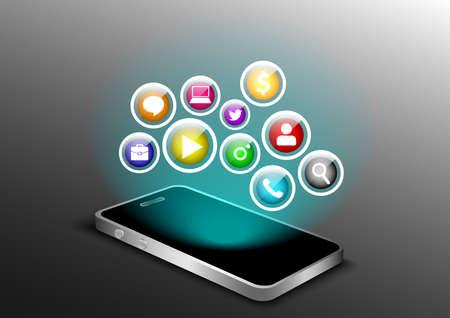 Social media access smartphone