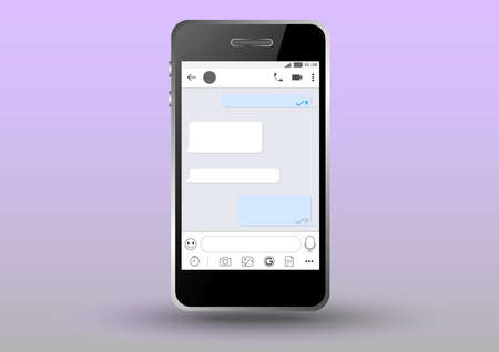 Mobile chatting application inside phone Ilustrace