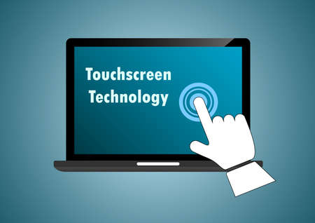 touchscreen device sign illustration
