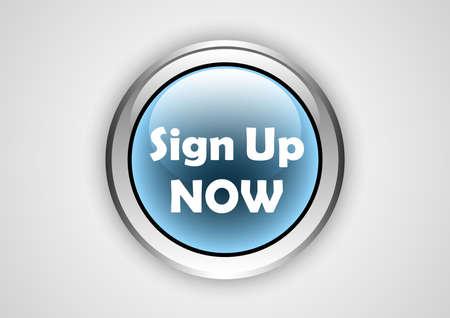 sign up web button  イラスト・ベクター素材
