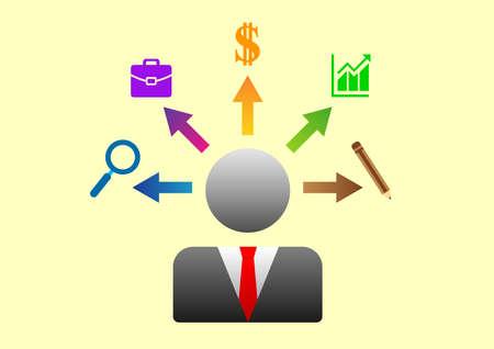 business mindset strategy illustrations