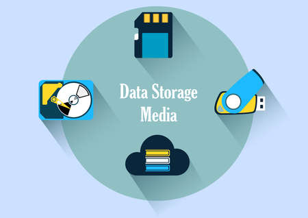 data storage media illustrations Reklamní fotografie - 101121271